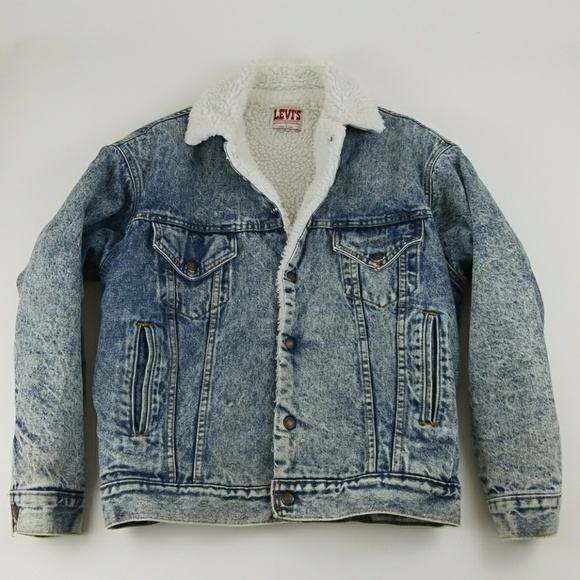 474048824e7 Levi s Other - Vintage Levi s Sherpa lined trucker jean jacket sm